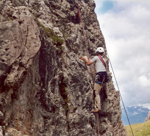 Lienzer Dolomites, C II course Rockclimbing 2000