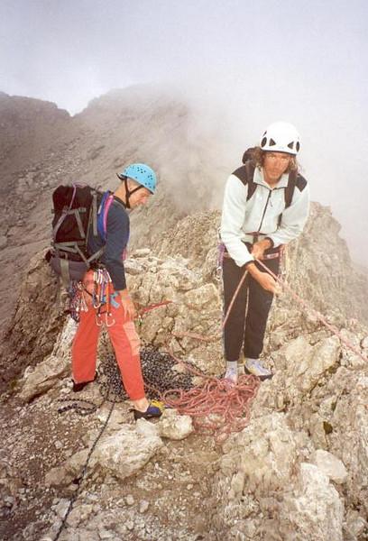 """3 Aug. Grosse Teplitzer Spitze 20 SL """"Haspinger Anstieg"""" (Lienzer Dolomites, C II course Rockclimbing 2000)"""