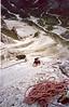 2 Aug. Kleinen Gamswiesenspitze 2454m  Northeast side (Lienzer Dolomites, C II course Rockclimbing 2000)