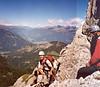 2 Aug. ascent Kleinen Gamswiesenspitze  (Lienzer Dolomites, C II course Rockclimbing 2000)