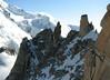 Our goal for next day: Arête de Cosmiques, Route: Helbronner 3462m - Aiguille du Midi 3842m (Telecabine Vallée Blanche)