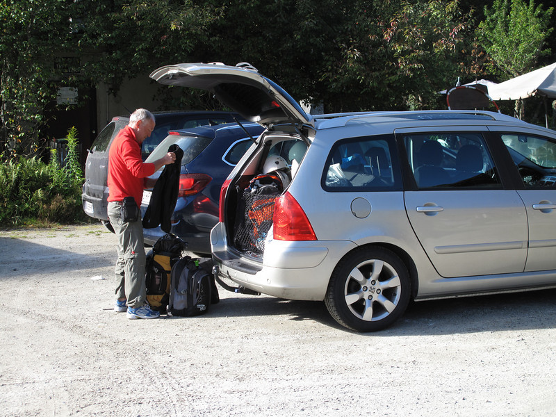 Preparations rockclimbing, Gite la Montagne, Chamonix