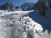 Vallée Blanche, Route: Helbronner 3462m - Aiguille du Midi 3842m (Telecabine Vallée Blanche)