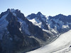 Argentière glacier with Aiguille du Chardonnet 3824m and Aiguille d'Argentière 3902m