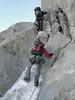 Rock climbing, route Refuge Torino, Italy 3338m - Arête de la Rochefort 3928m ( Rochefort ridge)