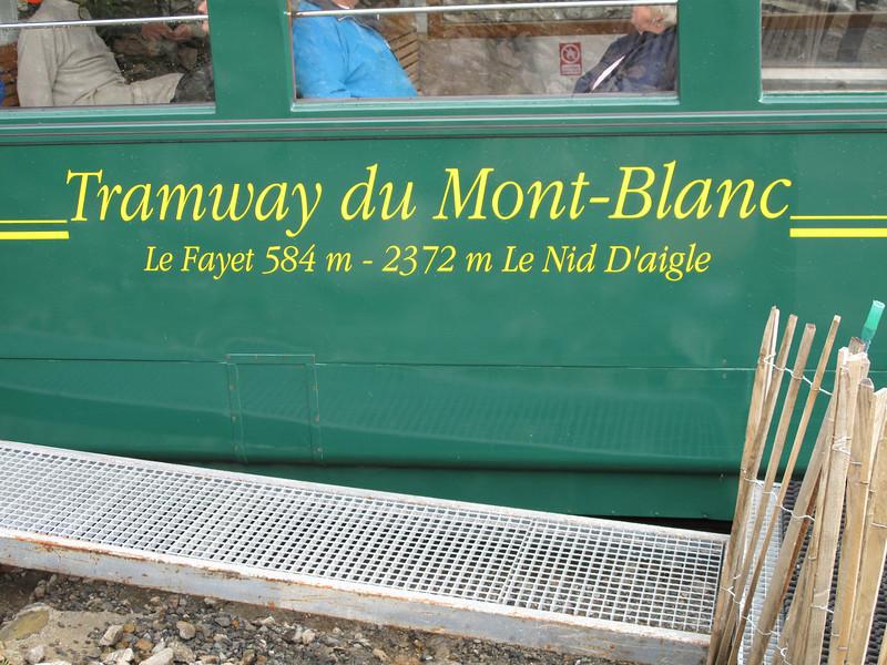 Train station Nid d'Aigle 2365m. route: Les Houches - Bellevue - Nid d'Aigle 2365m - Refuge du Goûter C.A.F. 3817m