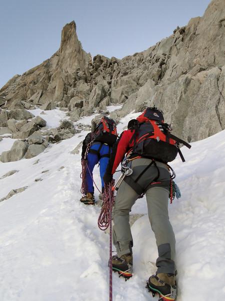 Mixt ground, route Refuge Torino, Italy 3338m - Arête de la Rochefort 3928m ( Rochefort ridge)