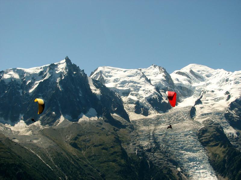Paragliding Mont Blanc massif,  le Brévent, Chamonix