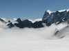 Much cloud / overcast today, route Aiguille du Midi 3842m - Refuge Torino, Italy 3338m