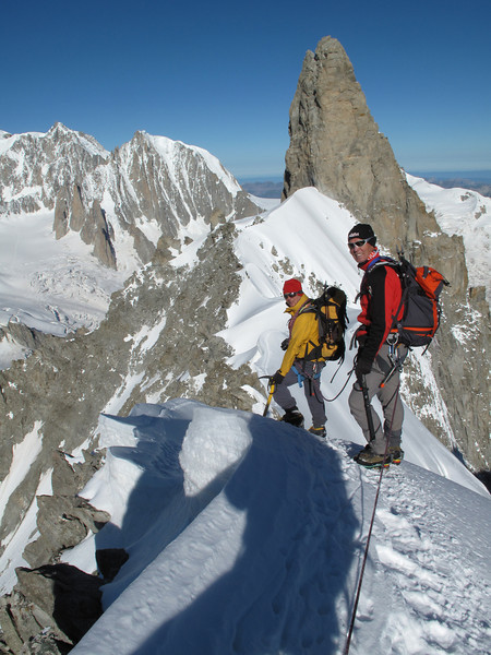 Dent du Geant 4013m and Arête de la Rochefort 3928m, tour Refuge Torino, Italy 3338m - Arête de la Rochefort 3928m ( Rochefort arete)