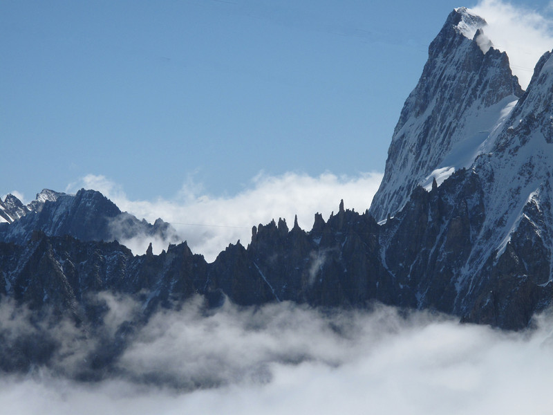 Arête du Diable ~4000m. Route: Aiguille du Midi 3842m - Refuge Torino, Italy 3338m