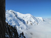 View at Mont Blanc from Aiguille du Midi 3842m , Chamonix