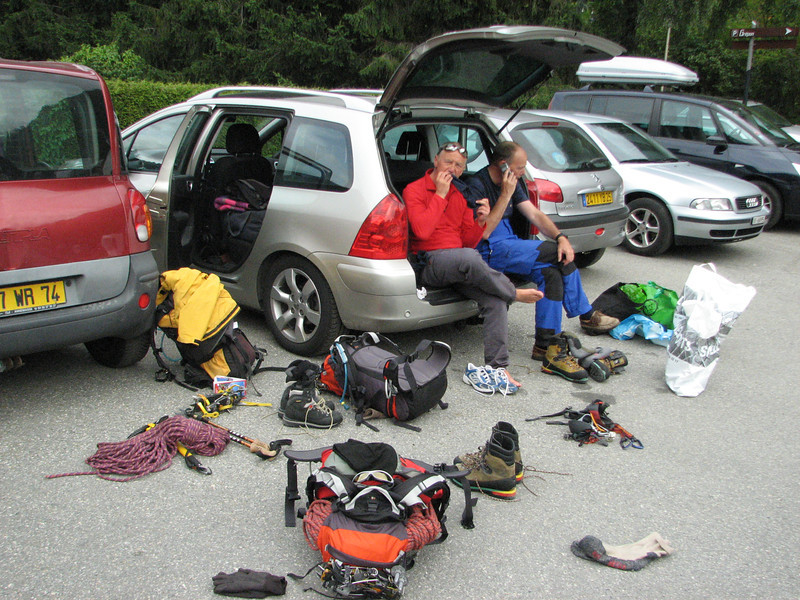 Back at the parking in Chamonix