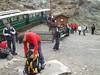 Train station Nid d'Aigle 2365m. Les Houches - Bellevue - Nid d'Aigle 2365m - Refuge du Goûter C.A.F. 3817m