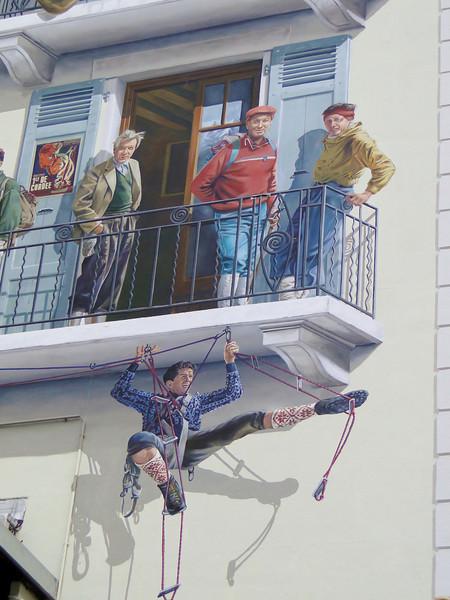 Wall painting in Chamonix