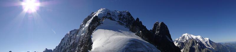 Aiguille Verte 4122m and Les Drus 3754m