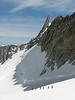 Dent du Géant 4013m, track Tour Ronde 3792m- Refuge Torino vecchio, Italy 3338m
