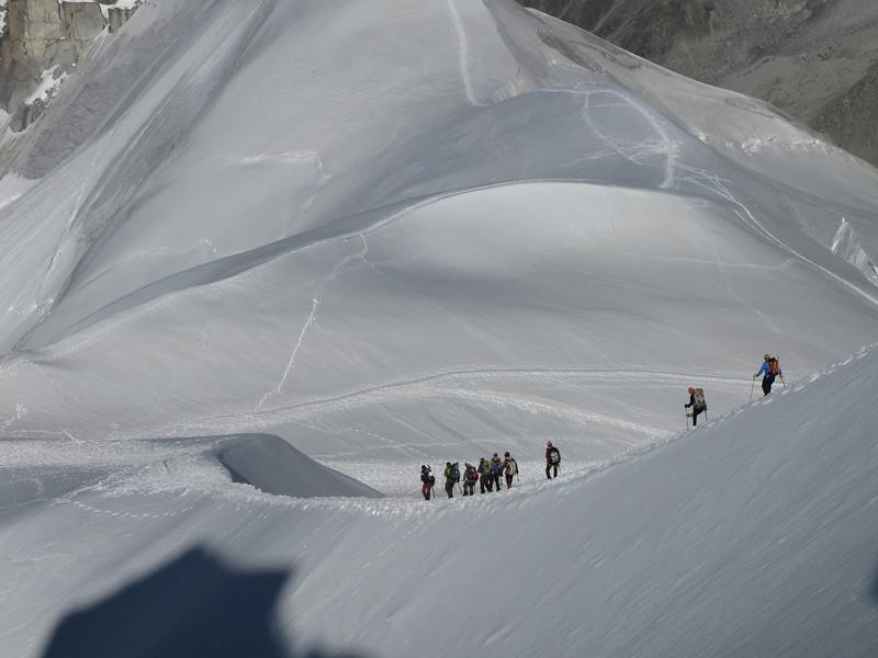 Descending Aiguille du Midi 3842m