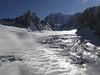 Glacier du Géant with Tour Ronde 3798m,  Helbronner 3462m - Aiguille du Midi 3842m (Telecabine Vallée Blanche)