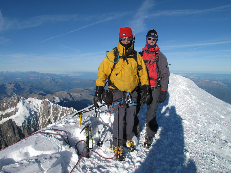 Ascending Mont Blanc 4810m and ...... ice-cold