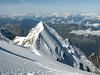 Arete of Aiguille du Bionnassay 4052m. Route: Descending Mont Blanc 4810m