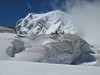 Mont Maudit 4468m and Mont Blanc 4810m, route Aiguille du Midi 3842m - Refuge Torino, Italy 3338m
