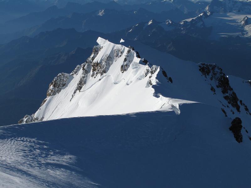 Bosses arete, route ascending Mont Blanc 4810m