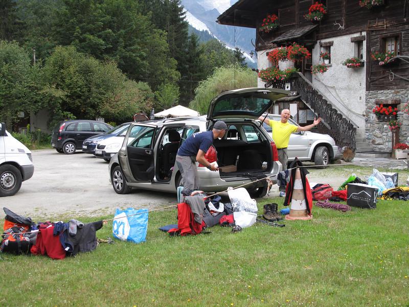 Preparations Mont Blanc tour