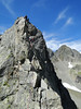Rock climbing, L'Index 2385m (Aiguille Rouges)