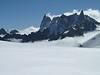 Glacier du Mont Mallet with Les Grandes Jorasses 4208m and Dent du Géant 4013m, route Aiguille du Midi 3842m - Refuge Torino, Italy 3338m