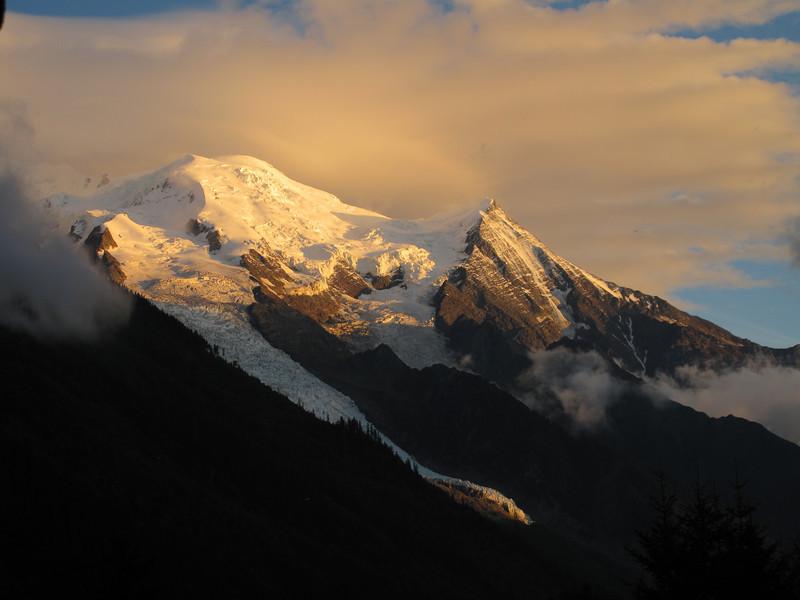 Evening view at Mont Blanc, Chamonix