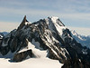Dent du Géant 4013m and Rochefort ridge, track Tour Ronde 3792m- Refuge Torino vecchio, Italy 3338m
