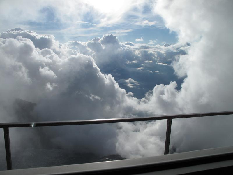 Clouds near Refuge du Goûter C.A.F. 3817m
