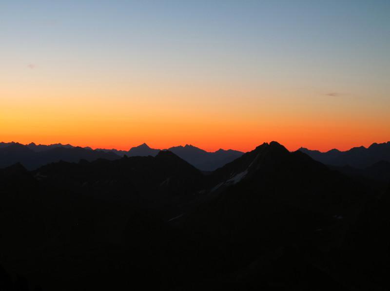 Morning colours, Refuge Torino, Italy 3338m- Tour Ronde 3792m v.v.