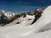 Dent du Géant 4013m with Rochefort ridge, track Tour Ronde 3792m- Refuge Torino vecchio, Italy 3338m