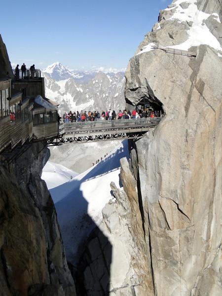 Helbronner 3462m - Aiguille du Midi 3842m (Telecabine Vallée Blanche)
