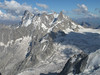 Grandes Jorasses 4208m and Dent du Genant 4013m