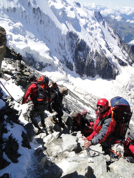 Descending Refuge du Gouter 3817m