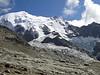 Bionnassy glacier, descending Refuge du Gouter 3817m