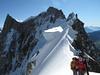 Arête de la Rochefort 3928m and Dent du Geant 4013m, Route: Refuge Torino, Italy 3338m - Arête de la Rochefort 3928m ( Rochefort ridge)