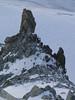 Climbing the snow couloir, route Refuge Torino, Italy 3338m - Arête de la Rochefort 3928m ( Rochefort ridge)