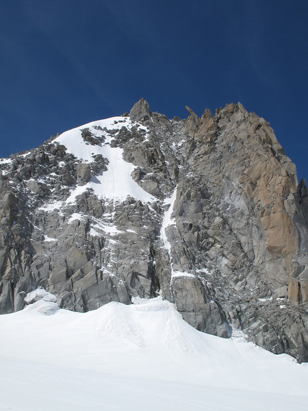 Our target, summit Tour Ronde 3792m, route Tour Ronde 3792m- Refuge Torino vecchio, Italy 3338m