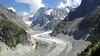 "Glacier ""Mer de glace"" with Grandes Jorasses 4208m"