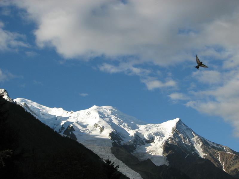 Next day-view Mont Blanc 4810m, Chamonix