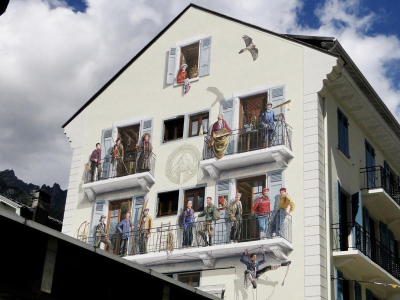 Wall painting: Mountaineering history of Chamonix