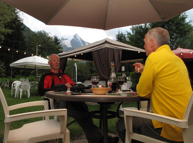 Diner at Gite la Montagne, Chamonix