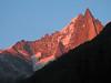 View from Gite la Montagne, Chamonix at Les Dru 3754m