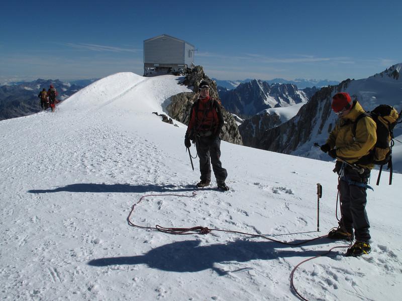 Refuge Vallot 4362m, Descending Mont Blanc 4810m