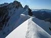 Arête de la Rochefort 3928m, route Refuge Torino, Italy 3338m - Arête de la Rochefort 3928m ( Rochefort arete)