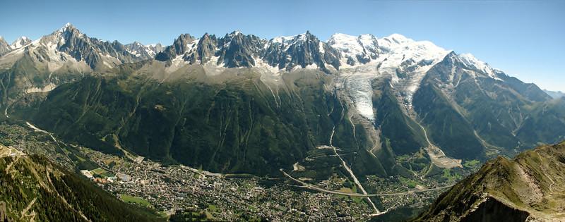 Panorama Mont Blanc massif, Cable car le Brévent, Chamonix